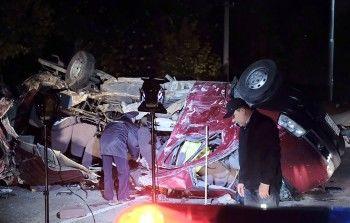 ВЧувашии микроавтобус столкнулся сгрузовиком, погибли 12 человек (ВИДЕО)