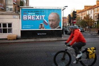 В Лондоне появились билборды с поздравлениями с «брекситом» и Путиным