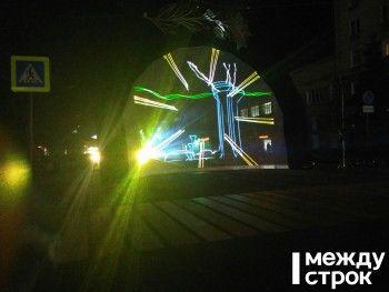 На Театральной площади Нижнего Тагила прошла репетиция новогоднего лазерного шоу (ВИДЕО)
