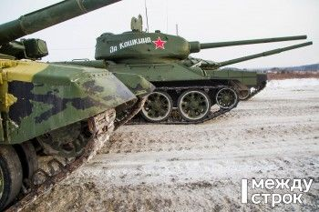 В Нижнем Тагиле прошёл танковый забег в честь конструктора Т-34 Михаила Кошкина (ВИДЕО)