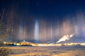 Жители Нижнего Тагила делятся в соцсетях фотографиями неба с «северным сиянием»