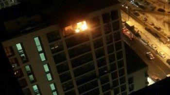 ВПодмосковье вмногоэтажном доме прогремел взрыв иначался пожар (ВИДЕО)