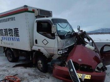 НаКамчатке ветер выбросил автомобиль навстречку, водитель погиб (ВИДЕО)