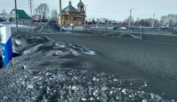 Полиция возбудила дело после появления чёрного снега вКузбассе