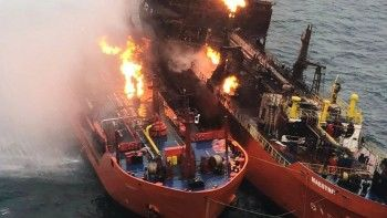 В Чёрном море потушили горевший с 21 января танкер