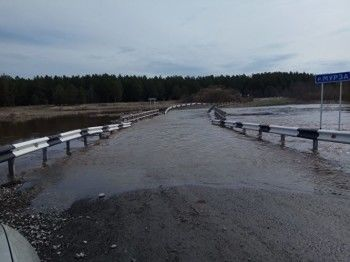 ВИрбитском районе закрыли движение подвум затопленным мостам