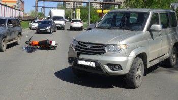 В Нижнем Тагиле внедорожник сбил мотоциклиста