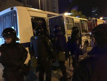 «Екатеринбург за свободу»: в третий вечер протестов против застройки сквера уже задержано около 20 человек