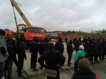 В Архангельской области произошло столкновение противников мусорного полигона исиловиков
