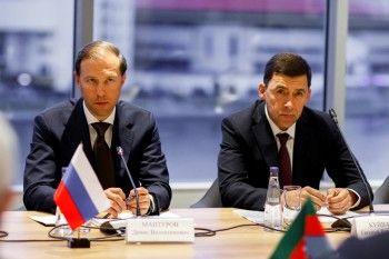 Евгений Куйвашев принял участие в рабочей встрече главы Минпромторга с министром экономразвития Азербайджана на полях ИННОПРОМ-2019