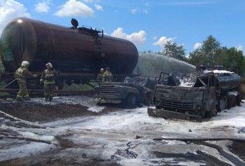 Четверо военных пострадали в результате пожара при перекачке топлива в Саратовской области