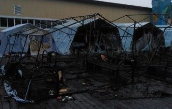 При пожаре в детском палаточном лагере в Хабаровском крае погиб ребёнок