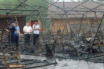 Причиной пожара в хабаровском детском лагере назвали обогреватель