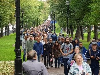 С начала несогласованной акции в Москве задержали почти 90 человек