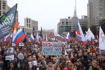 В связи с акциями 10 августа в разных городах России задержали 352 человека