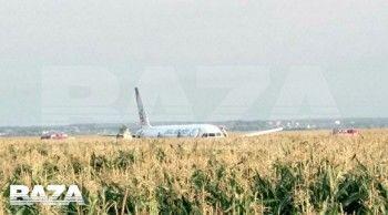 Самолёт «Уральских авиалиний» совершил аварийную посадку воткрытом поле вПодмосковье