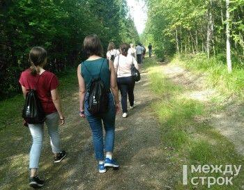 Туристов из Екатеринбурга и Нижнего Тагила провели по пешеходному маршруту на склоне горы Белой