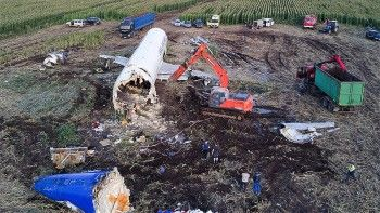 Airbus A321 полностью вывезен с кукурузного поля в Подмосковье