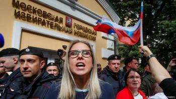 МВД: На организованное оппозицией шествие в Москве пришло 750 человек