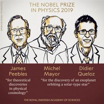 Нобелевскую премию в области физики вручили за космологию и открытие экзопланет
