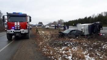 В ДТП под Нижним Тагилом два человека получили серьёзные травмы (ФОТО)