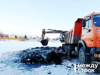 Из шламонакопителя Черноисточинского пруда вывезено уже 16 тысяч тонн отходов
