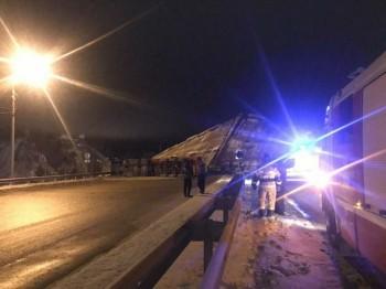 В Оренбурге обрушился автомобильный мост (ВИДЕО)