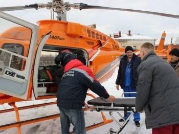 Пациента с инфарктом миокарда доставили вертолётом в кардиоцентр Нижнего Тагила из Кушвы за 15 минут