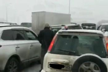 В массовом ДТП под Владивостоком столкнулись 48 машин (ВИДЕО)