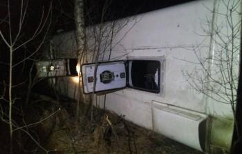 В Нижегородской области опрокинулся пассажирский автобус, пострадали 25 человек