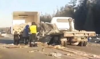 Под Нижним Тагилом столкнулись два грузовика (ВИДЕО)