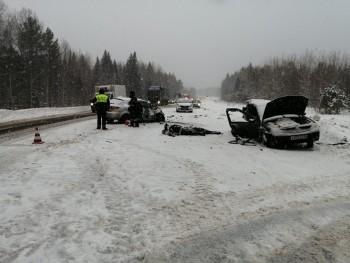 В Свердловской области под Нижними Сергами за сутки произошло два ДТП с погибшими (ФОТО)