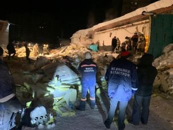 В Новосибирске из-за снега обрушилась крыша кафе, погиб один человек