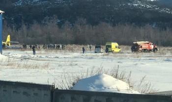 ВМагадане самолёт упал при взлёте иударился оземлю, есть пострадавшие