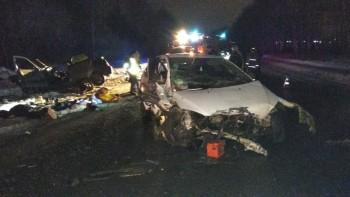 В Свердловской области в лобовом столкновении двух легковушек погибли пять человек