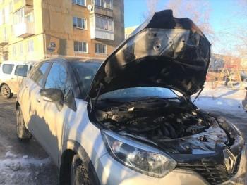 В Нижнем Тагиле автомобиль загорелся на ходу