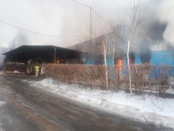В Нижнем Тагиле пожарные четыре часа тушили 3-этажный частный дом