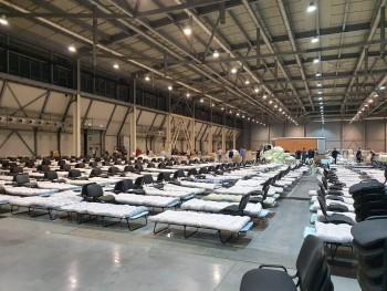 «Екатеринбург ЭКСПО» временно превратили в полевой госпиталь и установили 3000 больничных коек