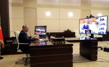Путин начал работать «наудалёнке»
