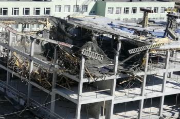 В Екатеринбурге обрушилось здание строящейся школы