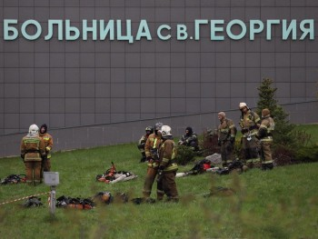 В МЧС назвали причину пожара в больнице Санкт-Петербурга