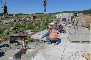 Новый многоквартирный дом в посёлке Уралец сдадут в конце сентября 2020 года