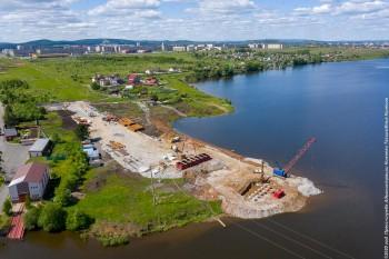 Мост через Тагильский пруд будут строить круглосуточно
