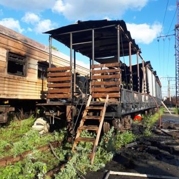 В МЧС установили причину пожара на железнодорожной станции в Нижнем Тагиле