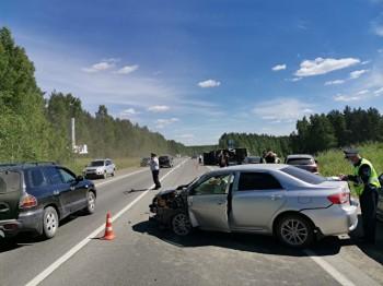 ПодПервоуральском заснувший за рулём водитель устроил массовое ДТП