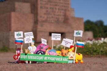 В Санкт-Петербурге сотрудники уголовного розыска пришли к активистке из-за игрушечного митинга