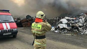 В Норильске загорелся полигон с промышленнымиотходами