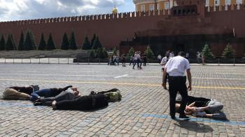 На Красной площади задержали активистов, выложивших своими телами цифру 2036