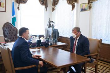 Управляющий директор ЕВРАЗ НТМК Алексей Кушнарёв рассказал губернатору Куйвашеву о перспективах развития предприятия