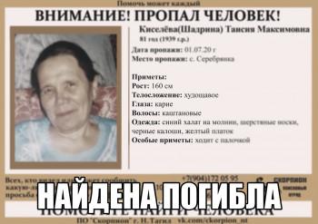 Пропавшую в начале июля под Нижним Тагилом пенсионерку нашли погибшей недалеко от дома